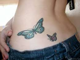 50 butterfly tattoos on waist