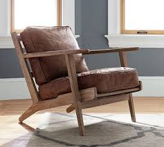 Arm Chair Travel Design Ideas Raylan Leather Armchair Pottery Barn
