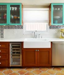 terracotta floor tile kitchen contemporary with breakfast bar