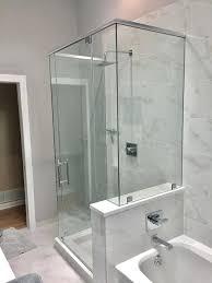 Bathroom Shower Glass Door Price Frameless Shower Glass Doors Custom Cost Installation Install Door