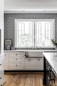 Kitchen With Subway Tile Backsplash Backsplashes Farmhouse Kitchen Grey Subway Tiles Kitchen Glass