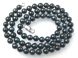 blue pearl necklace images Akoya pearl necklace 6mm aaa black saltwater cultured akoya jpg