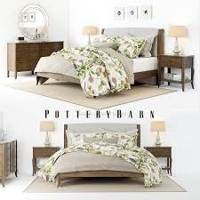 pottery barn pottery barn calistoga bedroom set 3d model cgtrader