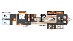 Open Range Fifth Wheel Floor Plans by 2017 Forest River Salem Villa Estate 4092bfl Model