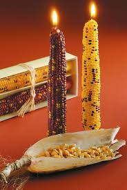 tag autumn harvest corn taper candle set of 2 home
