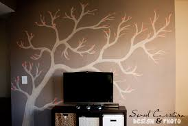 decoration ideas extraordinary wall decoration in living room beautiful wall decoration using cherry blossom wall mural contemporary living room decoration with light natural