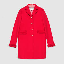single breasted wool coat gucci women s coats furs zhw