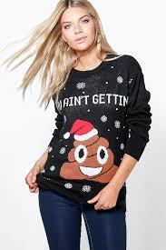 christmas jumper poo emoji christmas jumper boohoo