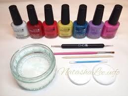 easy water marble nail art with nail polish natasha lee