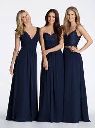 navy blue lace bridesmaid dress 2016 navy blue boho a line chiffon bridesmaid dresses hayley