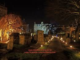 Hire Outdoor Lighting - lighting the howff graveyard in dundee lighting by steve page
