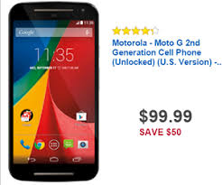 best smartphone unlocked deals black friday 99 99 motorola moto g 2nd generation cell phone unlocked