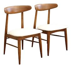 vintage mid century modern scandia danish teak chair pair chairish