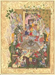 Miniature by Persian Miniature Art Rare Haft Awrang Of Jami Chain Of Gold Poem