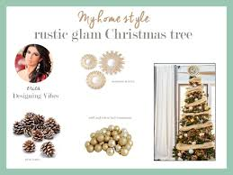 my rustic glam christmas tree from cheap and fake to fabulous