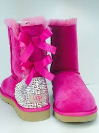 customise your ugg boots for free this autumn global blue custom bailey bow ugg boots made with swarovski bailey bow
