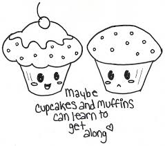 cupcakes vs muffins by hotdoghea2 jpg 952 838 cupcake sweets