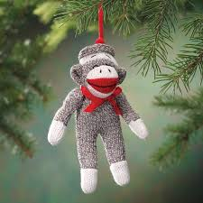 sock monkey ornaments lizardmedia co