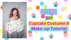 2016 halloween easy inexpensive cupcake costume u0026 makeup tutorial