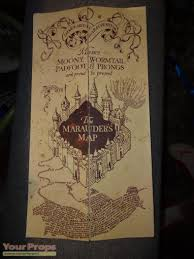 Harry Potter Map Harry Potter And The Prisoner Of Azkaban The Marauder U0027s Map The