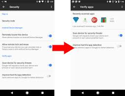 android device manager not working s verify apps now shows apps that it has recently scanned