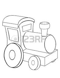 contour drawing toy car coloring stock photo picture