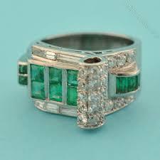 antiques atlas art deco emerald ring