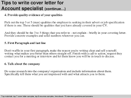 account specialist cover letter