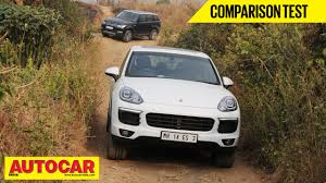 porsche suv in india porsche cayenne vs range rover sport comparison test autocar