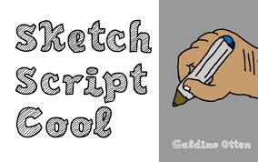 sketch script cool font dafont com
