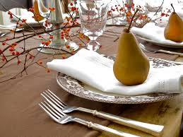 thanksgiving place setting jenny steffens hobick thanksgiving table pears bittersweet