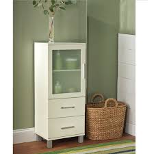 furniture chic espresso bathroom corner linen cabinet tower for