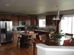 dark wood floors with medium wood cabinets in kitchen wood floors
