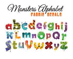 halloween decals halloween letters alphabet wall fabric decals cute monsters
