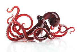 octopus in by caldwell glass sculpture artful