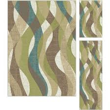 Green Area Rug 3 Set Ivory Teal Blue Green Area Rug Deco Rc Willey