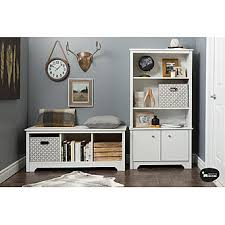 2 Shelf Bookcase With Doors South Shore Vito 3 Shelf Bookcase With Doors Pure White Home