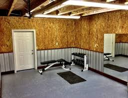 Home Gym Decorating Ideas Photos Ideas Ceiling Beams And Cork Wall Decoration With Wainscoting