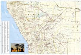 Kalahari Desert Map Namibia National Geographic Adventure Map National Geographic