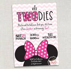minnie mouse custom invitations blueklip com