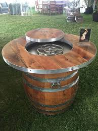 wine barrel fire table fire pit tables insteading