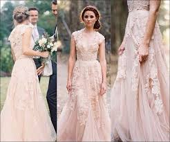 flowing wedding dresses these 10 gowns are proof the pink wedding dress packs sass and how