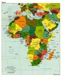 Africa Geographical Map by Africa Political Map 1998