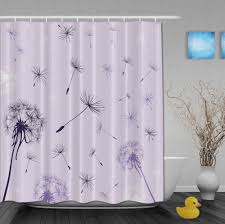 purple shower curtains interior design