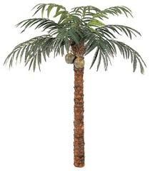 foot coconut palm tree tropical artificial flowers plants and