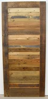 sliding barn door this is a part of signature woods mismatched Reclaimed Wood Interior Doors