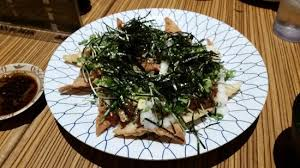 early bird dinner order before 6 pm sushi and poke nachos