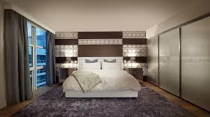 agencement chambre à coucher design interieur aménagement chambre coucher déco murale lit