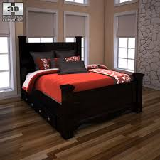 ashley storage bed 3d model ashley shay queen poster bed with storage vr ar low