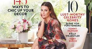 in style home decor lea michele invites fans into her house for instyle u0027s home
